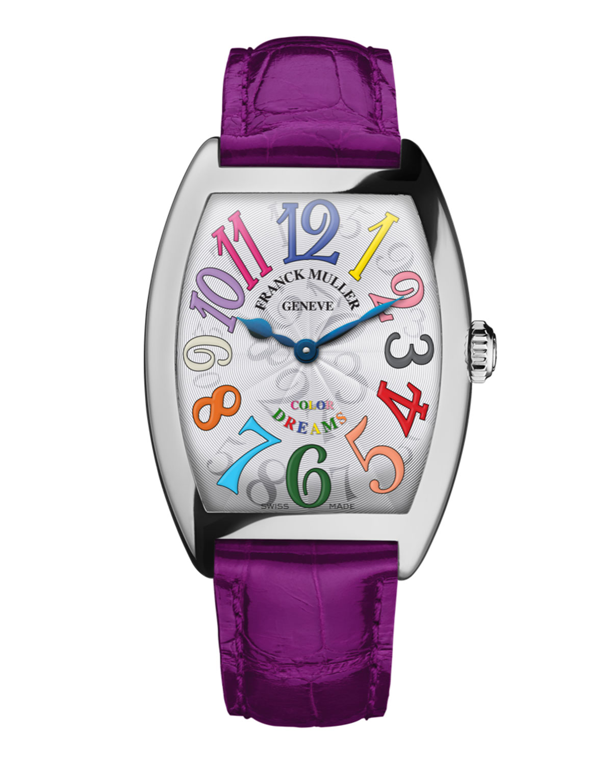 Franck Mullerlas Color Dreams Curvex Watch With Alligator Strap