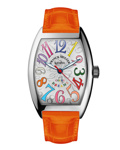 Ladies Color Dreams Curvex Watch with Alligator Strap