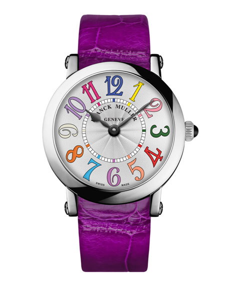 Ladies Color Dreams Ronde Watch with Alligator Strap
