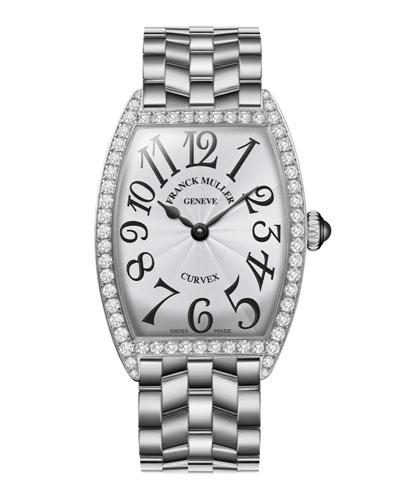 Ladies Curvex Stainless Steel Diamond Watch