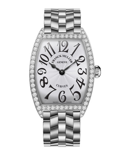 Ladies Curvex Stainless Steel Diamond Watch