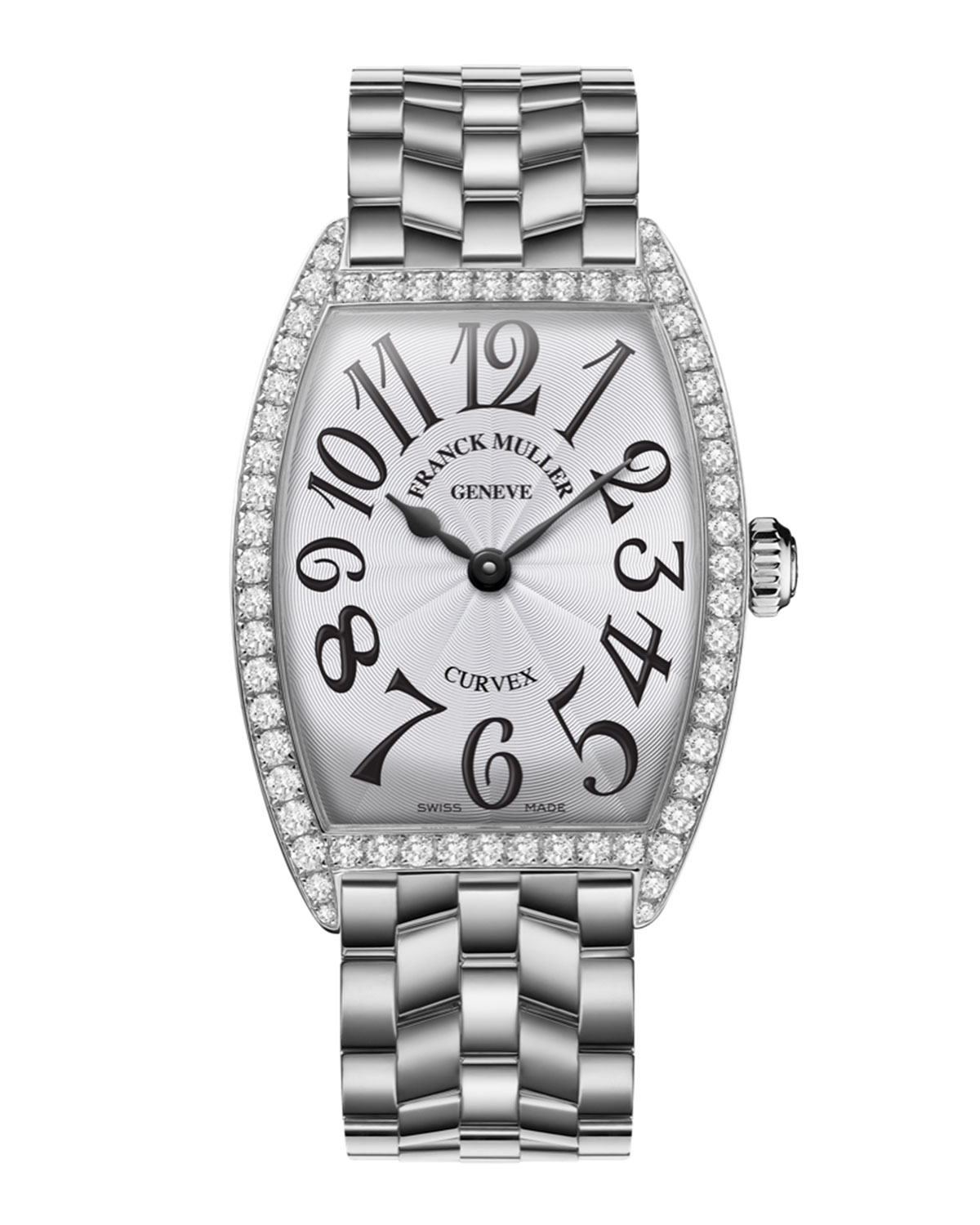 78ce97ebeab Franck Muller Ladies Curvex Stainless Steel Diamond Watch