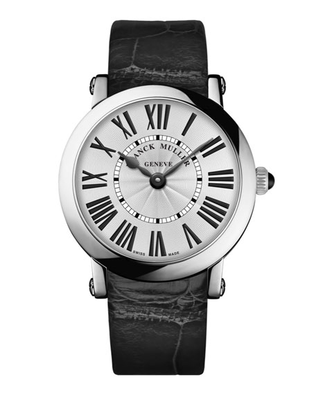 Ladies Stainless Steel Ronde Watch with Alligator Strap