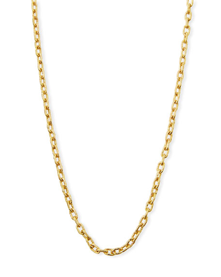 "19k Gold Link Necklace, 35""L"