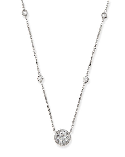 Joy Round Diamond Pendant Necklace