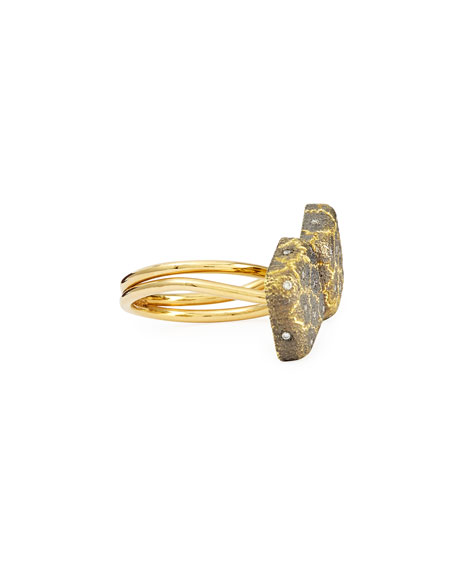 Kisses 18k Gold Ring with Diamonds