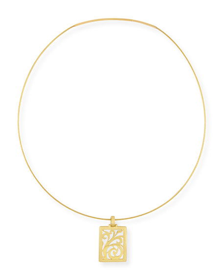 Alex Soldier 18k Gold Open-Scroll Pendant Necklace