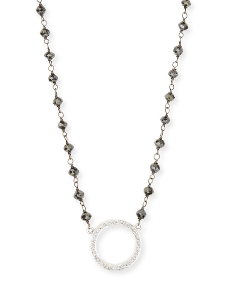 Twilight Open-Circle Diamond Pendant Necklace