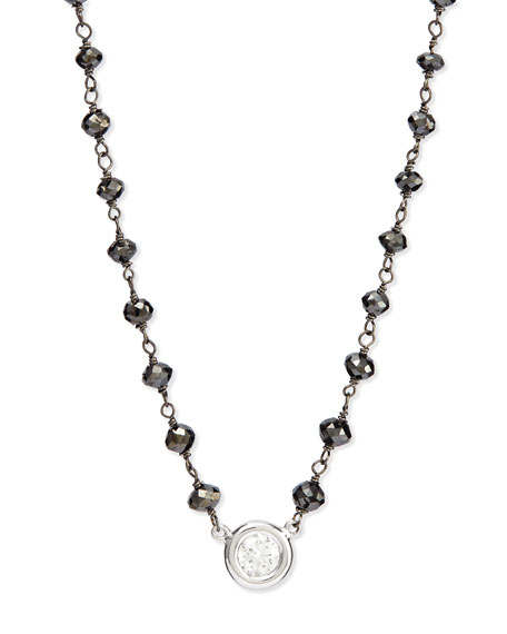 Twilight Bezel-Set Diamond Pendant Necklace