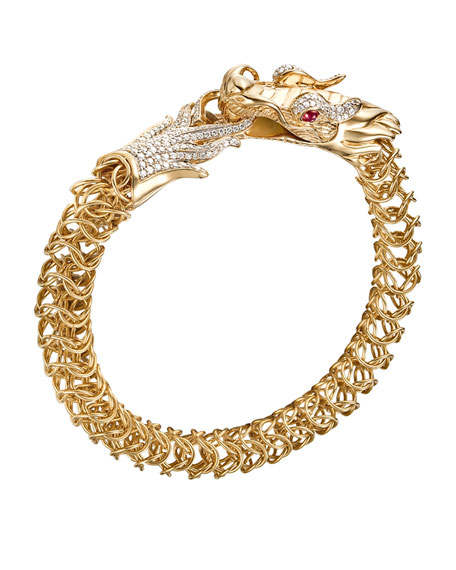 Batu Naga 18k Diamond & Ruby Dragon Bracelet