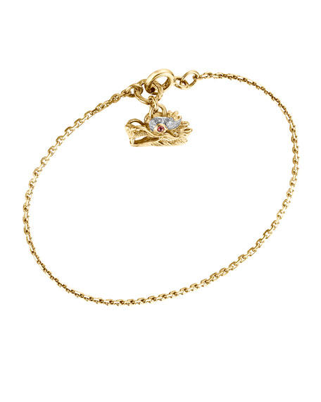 John Hardy Naga 18k Dragon Charm Bracelet, Medium