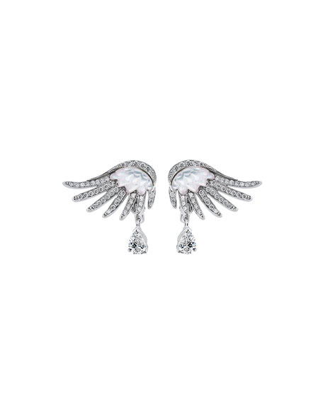 Vesta Diamond & Mother-of-Pearl Earrings