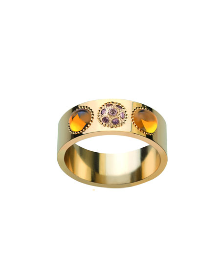 Petillante 18k Champagne Diamond Ring