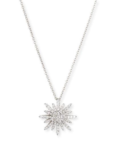 "Starburst Diamond Pendant Necklace, 18""L"