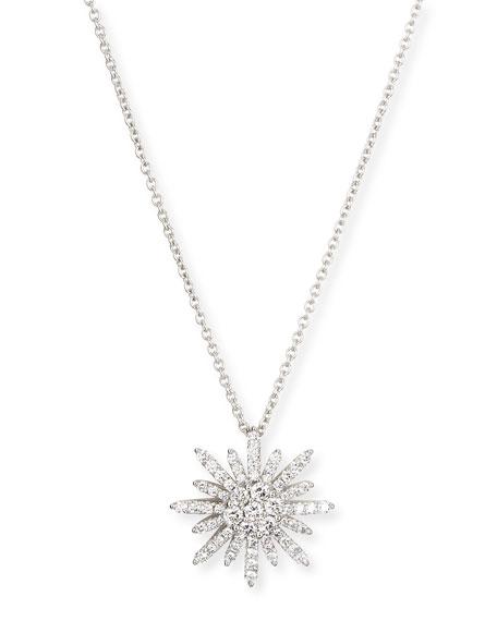 Nm diamond starburst diamond pendant necklace 18l aloadofball Choice Image