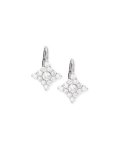 Diamond-Shape Cluster Drop Earrings