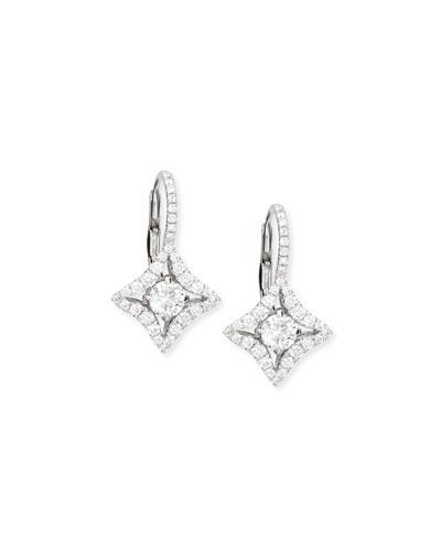 Diamond-Shape Drop Earrings