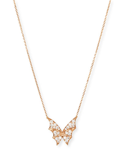 Fly By Night Rose Gold Diamond Pendant Necklace