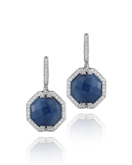 Ivanka Trump Patras Octagonal Sapphire Diamond Earrings