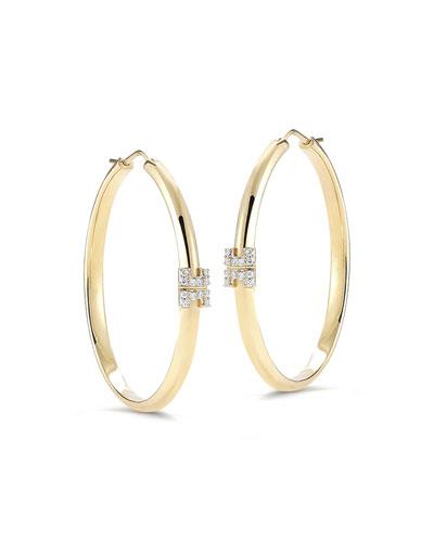 Metropolis Sol 18k Hoop Earrings with Diamonds
