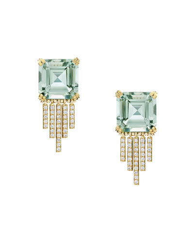 Empire Prasiolite Fringe Earrings