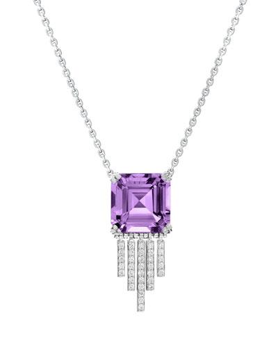 Empire Amethyst Diamond Fringe Necklace