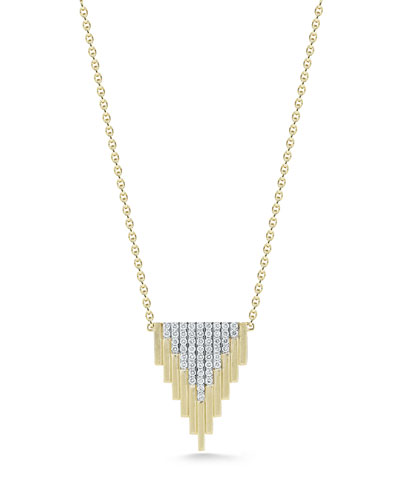 Empire Small Motif Diamond Necklace