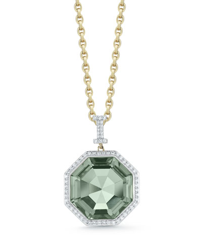 Empire Large Prasiolite Pendant Necklace