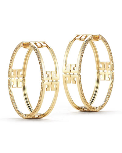Metropolis Sol Open Frame Hoop Earrings