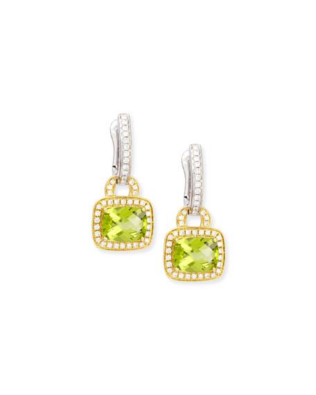 Frederic Sage Peridot & Diamond Drop Earrings