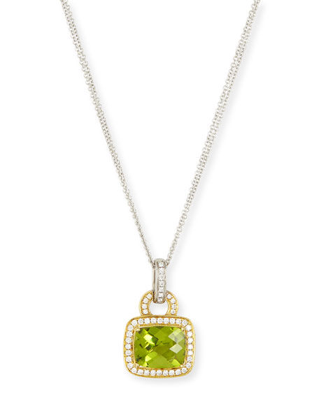 Roma Peridot & Diamond Pendant Necklace