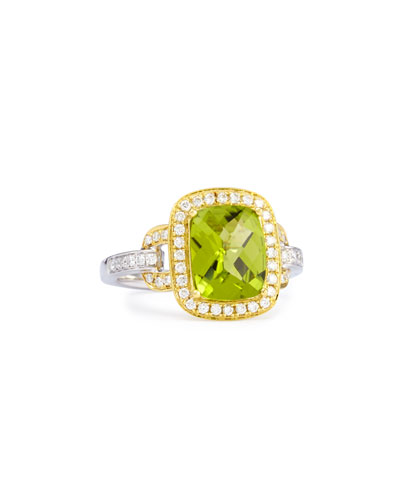 Roma Peridot & Diamond Ring