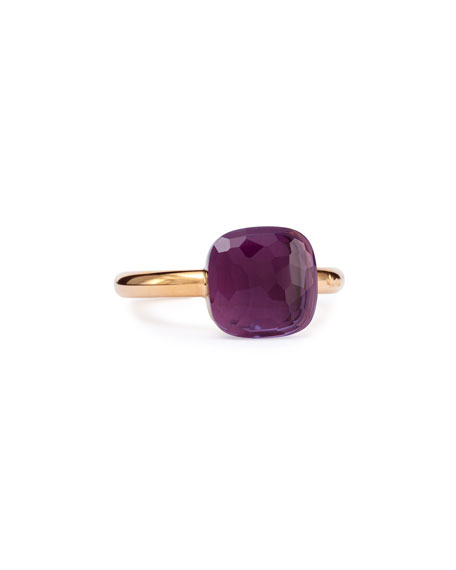 Nudo Rose Gold & 9mm Amethyst Ring, Size
