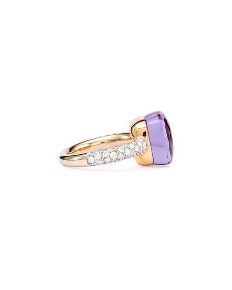 Nudo Rose Gold & Amethyst Diamond Ring, Grande