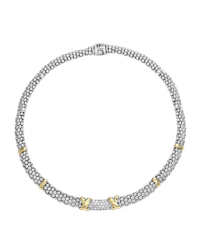 Caviar Diamond Lux Rope Necklace