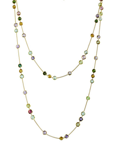 "Jaipur Mixed-Stone Layering Necklace, 47""L"