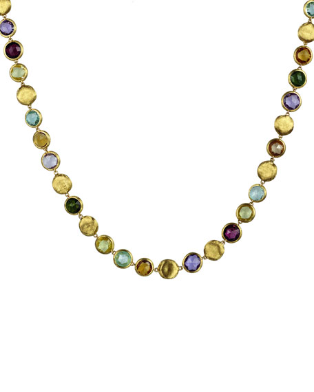 Marco Bicego Jaipur Mixed-Stone Link Necklace, 19