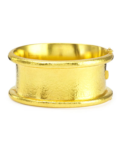 Amulet 19k Gold Hinge Bangle