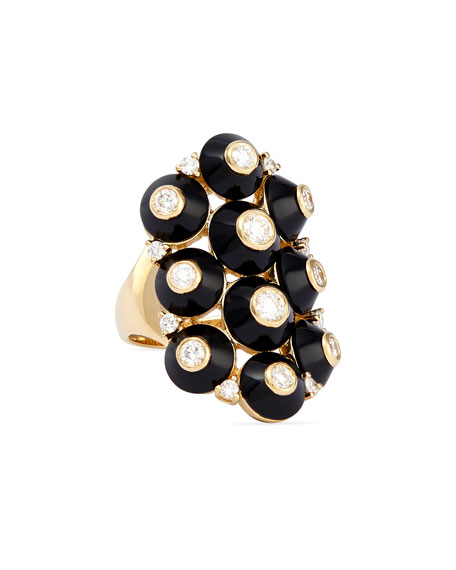 Maria Canale for Forevermark 18k Pyramide Onyx &