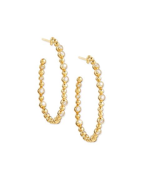 Michael Aram 18k Molten Hoop Earrings with Diamonds