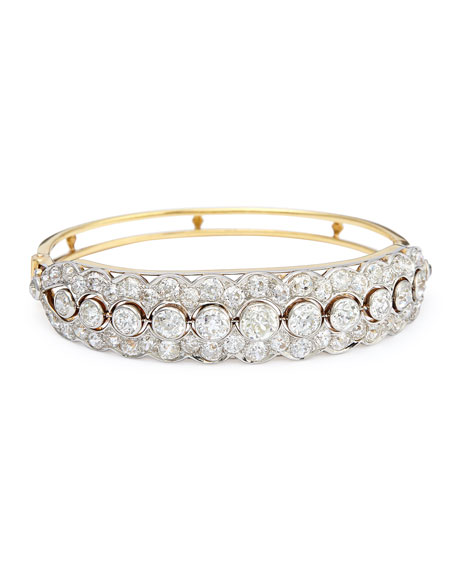 NM Estate Jewelry Collection Estate Edwardian Diamond Bangle