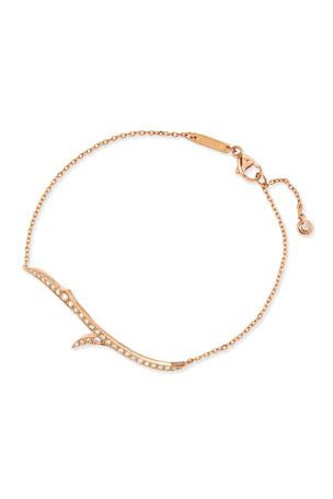 Stephen Webster 18k Rose Gold & Diamond Thorn Bracelet
