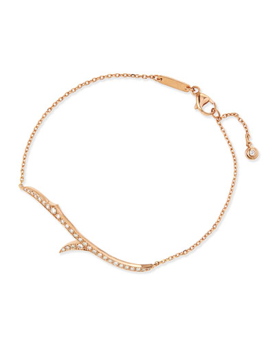 18k Rose Gold & Diamond Thorn Bracelet