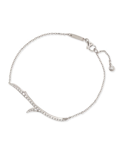 18k White Gold & Diamond Thorn Bracelet