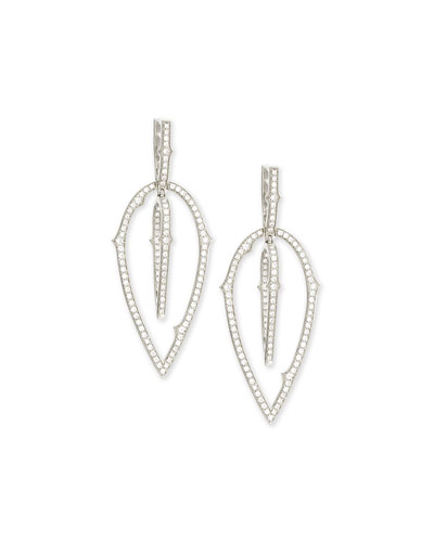 Thorn Detachable-Drop Diamond Earrings