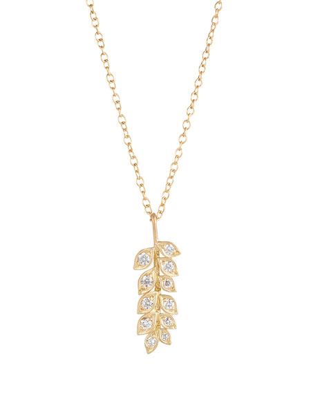 Jamie Wolf Small Vine Pendant Necklace with Diamonds