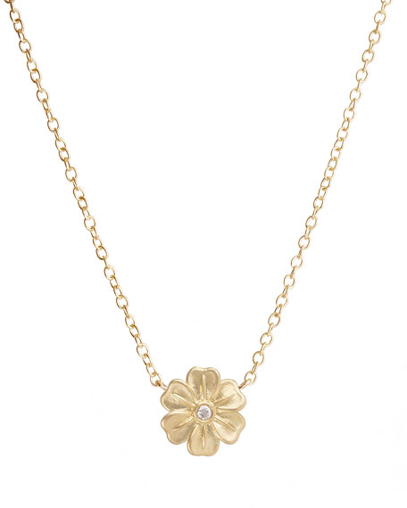 Jamie Wolf 18k Diamond Lilac Pendant Necklace zXR3lf
