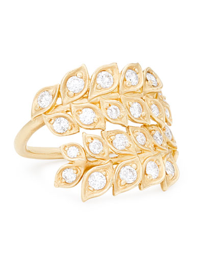 Vine Wrapped Wire Ring with Diamonds