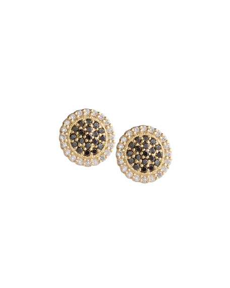 Jamie Wolf Scalloped Black & White Diamond Stud