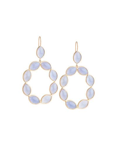 Linked Marquise Chalcedony Earrings